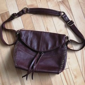 The Sak, crossbody or shoulder leather purse